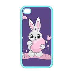 Easter Bunny  Apple Iphone 4 Case (color) by Valentinaart