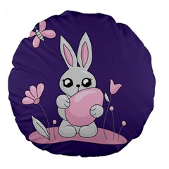 Easter Bunny  Large 18  Premium Round Cushions by Valentinaart