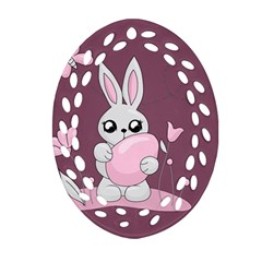 Easter Bunny  Oval Filigree Ornament (two Sides) by Valentinaart