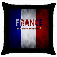 Football World Cup Throw Pillow Case (black) by Valentinaart