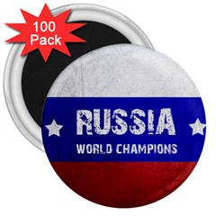 Football World Cup 3  Magnets (100 Pack) by Valentinaart