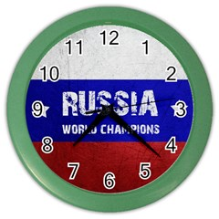 Football World Cup Color Wall Clocks by Valentinaart