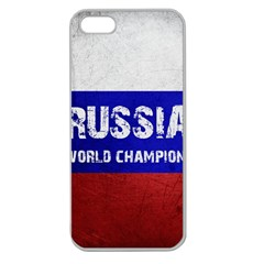 Football World Cup Apple Seamless Iphone 5 Case (clear) by Valentinaart