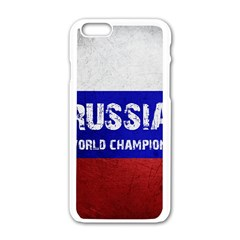 Football World Cup Apple Iphone 6/6s White Enamel Case