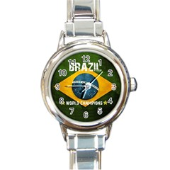 Football World Cup Round Italian Charm Watch by Valentinaart