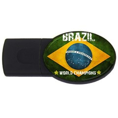 Football World Cup Usb Flash Drive Oval (2 Gb) by Valentinaart
