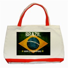 Football World Cup Classic Tote Bag (red) by Valentinaart