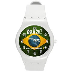 Football World Cup Round Plastic Sport Watch (m) by Valentinaart