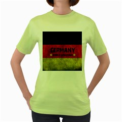 Football World Cup Women s Green T Shirt