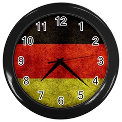 Football World Cup Wall Clocks (black) by Valentinaart