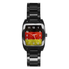 Football World Cup Stainless Steel Barrel Watch by Valentinaart