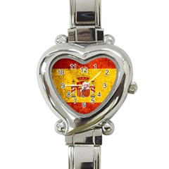 Football World Cup Heart Italian Charm Watch