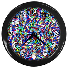 Pattern-10 Wall Clocks (black)