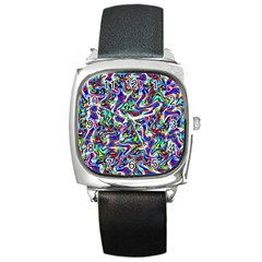 Pattern-10 Square Metal Watch