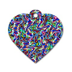Pattern-10 Dog Tag Heart (one Side)