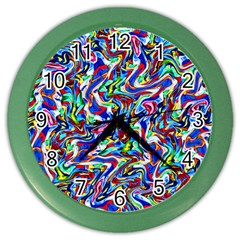 Pattern 10 Color Wall Clocks