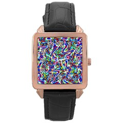 Pattern-10 Rose Gold Leather Watch