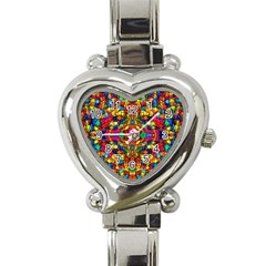 P 786 Heart Italian Charm Watch by ArtworkByPatrick