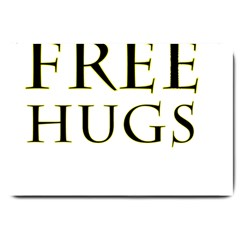 Freehugs Large Doormat  by cypryanus