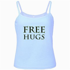 Freehugs Baby Blue Spaghetti Tank