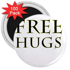 Freehugs 3  Magnets (100 Pack) by cypryanus