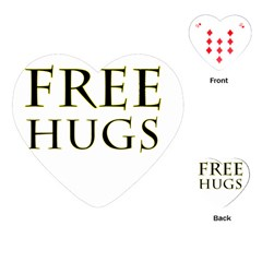 Freehugs Playing Cards (heart)  by cypryanus