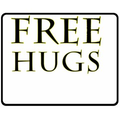 Freehugs Double Sided Fleece Blanket (medium)  by cypryanus