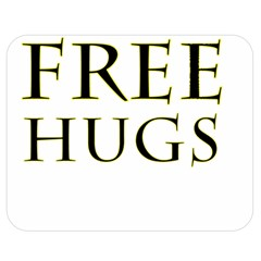 Freehugs Double Sided Flano Blanket (medium)  by cypryanus