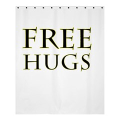Freehugs Shower Curtain 60  X 72  (medium)  by cypryanus