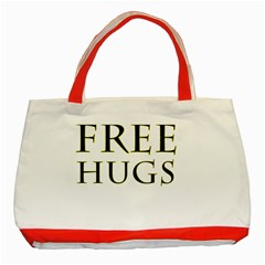 Freehugs Classic Tote Bag (red) by cypryanus