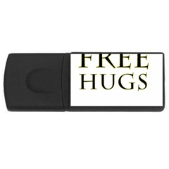 Freehugs Rectangular Usb Flash Drive by cypryanus