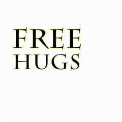 Freehugs Large Garden Flag (two Sides) by cypryanus