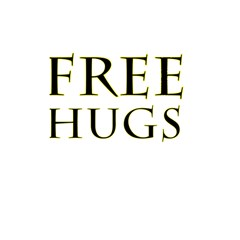 Freehugs Shower Curtain 48  X 72  (small)  by cypryanus