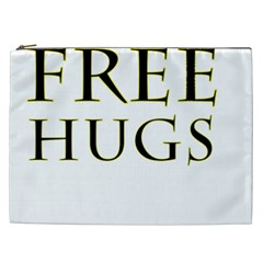 Freehugs Cosmetic Bag (xxl)  by cypryanus