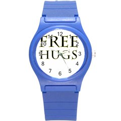 Freehugs Round Plastic Sport Watch (s) by cypryanus