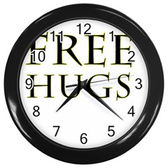 Freehugs Wall Clocks (black)