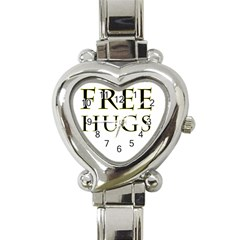 Freehugs Heart Italian Charm Watch by cypryanus