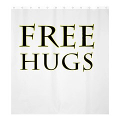 Freehugs Shower Curtain 66  X 72  (large)  by cypryanus