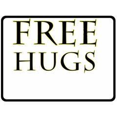 Freehugs Double Sided Fleece Blanket (large)  by cypryanus