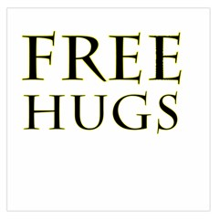 Freehugs Large Satin Scarf (square) by cypryanus