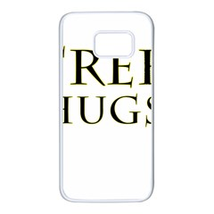 Freehugs Samsung Galaxy S7 White Seamless Case by cypryanus