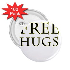 Freehugs 2 25  Buttons (100 Pack)  by cypryanus