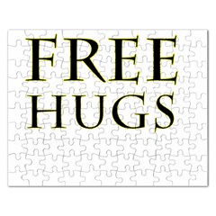 Freehugs Rectangular Jigsaw Puzzl by cypryanus