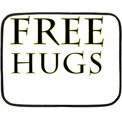 Freehugs Double Sided Fleece Blanket (mini)  by cypryanus