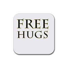 Freehugs Rubber Coaster (square)  by cypryanus