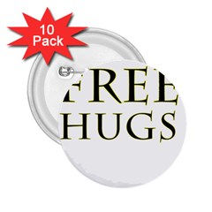 Freehugs 2 25  Buttons (10 Pack)  by cypryanus