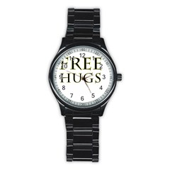 Freehugs Stainless Steel Round Watch