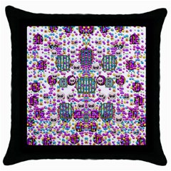 Alien Sweet As Candy Throw Pillow Case (black) by pepitasart