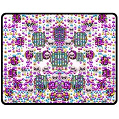 Alien Sweet As Candy Fleece Blanket (medium)  by pepitasart