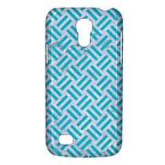 Woven2 White Marble & Turquoise Colored Pencil (r) Galaxy S4 Mini by trendistuff